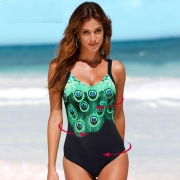 Print Feather One Piece Swimsuit