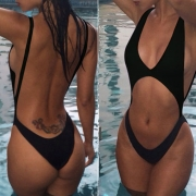 Cheeky Deep V One Piece Swimsuit