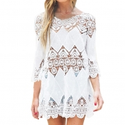 Lace Hollow Crochet Beach Bikini Swimsuit Cover Up