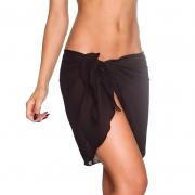 Women Wrap Pareo Open-Back Beach Bikini Cover-up