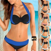 Premium Patchwork Bikini Set Push Up Swimsuit