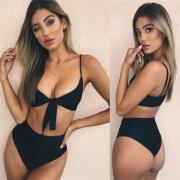 Premium Sexy Bandage Tie Front Women Bikini Suit